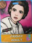 Convention Badge 2010 vtg FRIDAY ADULT Celebration V - PRINCESS LEIA Star Wars