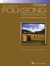 15 Easy Folksong Arrangements Low Voice Book and Audio NEW 000740269