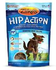 Zukes Hip Action Dog Treats Roasted Beef Recipe 16-Ounce Pet Food Glucosamine .