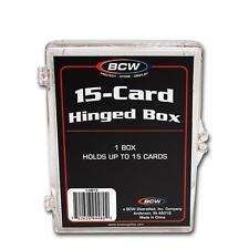 10 Ten - BCW Brand 15 Card Storage Plastic Case Hinged Snap Box  - hb15
