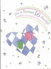 It's a Sweet 16 Party! Invitations 8 Count with Envelopes Birthday Party
