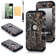 Triple Layer Hybrid RealTree Camo Hard Case Cover For IPOD TOUCH 4 4TH GEN Black