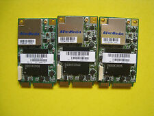 Lot of 3 HP / Avermedia 492853-001 TV Tuner Card Digital/Analog Mini PCIe Card