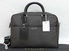 Auth BVLGARI Weekend Business Briefcase Bag 2Way Italy $0 Ship 01130377100 S13F
