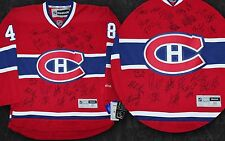 MONTREAL CANADIENS 2015-16 TEAM SIGNED RBK JERSEY SUBBAN PACIORETTY GALLY +COA