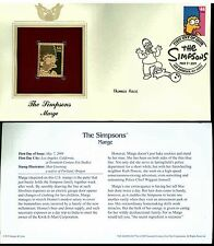 The Simpsons Cover Postal Commemorative Society Proof Replica Stamp 22k Gold