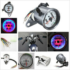 Motorcycle Dual Odometer Speedometer Gauge Test Miles Speed Meter LED Backlight