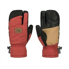 Quiksilver Trigg Snow Mittens Bossa Nova Burnt Orange L