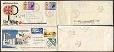 BRUNEI 1968-73 FDCs ILLUSTRATED 3 COVERS to SARAWAK + CANADA + GB