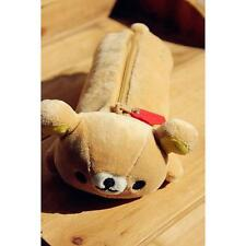 "Adorable San-x Yellow Rilakkuma Bear Pencil Pen Case Stationery 11"" Brand New"