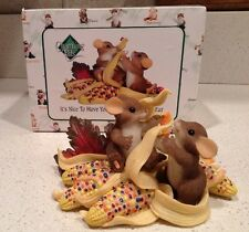 """Charming Tails """"It's Nice to Have You With Me Ear After Ear"""" Thanksgiving Figure"""