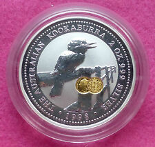 1998  KOOKABURRA 2oz  SHIELD PRIVY MARK  SILVER PROOF $2 COIN