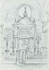 Sonja Wüsten - Synagoge Recz, Polen - Bleistiftzeichnung - 1981 - 138