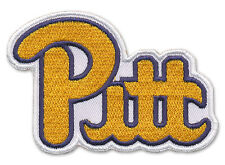 "Wax Backed 2 3/4"" X 3 1/2"" Embroidered University of Pittsburgh Patch-PITT Pride"