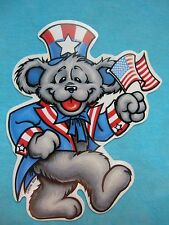 Grateful Dead Uncle Sam USA Patriot Dancing Bear Sticker