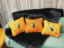 """3 SPINNEN-Sofa-**KISSEN**,""""Halloween""""in der Puppenstube 1:12!"""