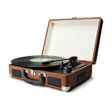 RECORD PLAYER PORTABLE A CASE VINTAGE FOR VINYL RECORDS WITH USB AND SD CARD