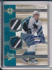 MATT CARLE 2006-07 06-07 ULTIMATE COLLECTION ROOKIE DUAL PATCH AUTO RC /10 !!