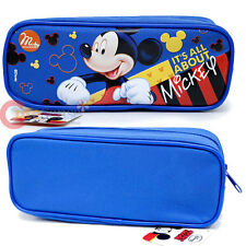 Disney Mickey Mouse Pencil Case Zippered Cosmetic Pouch Bag Canvas All About