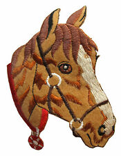 "4-1/2"" Palomino Horse Head Embroidery Iron On Applique Patch"