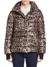 NWT Diane von Furstenberg Diane Leopard Print Puffer Jacket XS NATURAL LEOPARD