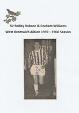 BOBBY ROBSON/G WILLIAMS WEST BROMWICH ALBION RARE ORIG SIGNED MAGAZINE CUTTING