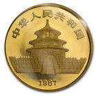 1987-Y 1 oz Gold Chinese Panda Coin - Sealed in Plastic