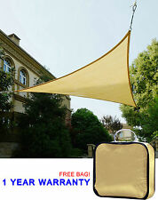 Quictent 16' Triangle Sun Shade Sail Outdoor Canopy Top Cover Patio Garden Sand