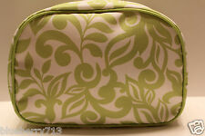 Brand New ! CLINIQUE Floral  In Lime Green  Color Cosmetic Makeup Bag