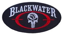 BLACKWATER PUNISHER SKULL EMROIDERED 4.0 INCH VELCRO PATCH