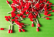 Cord End 1.0mm RED Ferrule Bootlace Pin Terminal Weidmuller 9018560000 x 100pcs