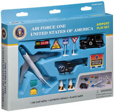 Air Force One Airport Spielzeug Set B747 Spielzeugset 12 Teile Präsident RT5731