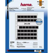 HAMA 35MM NEGATIVE STORAGE PAGES 2250 FOR RINGBINDER PACK OF 25 SHEETS