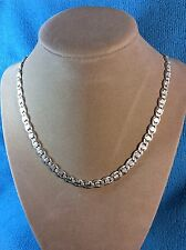 Vintage 925 Sterling Silver Chain Necklace. Heavy 33 Grams !