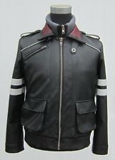 Prototype PS3 Game Alex Mercer Jacket Hoodie Embroidered PU Leather Coat Cosplay