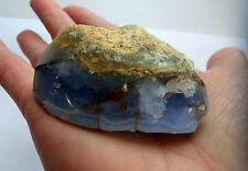 NATURAL BLUE LACE POLISHED / FREEFORM AGATE CRYSTAL A GRADE 85g 80mm st131