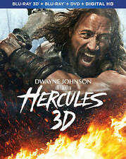 Hercules (Blu-ray 3D/Blu-ray/DVD, 2014) NEW W/ SLIPCOVER FT  Dwayne Johnson