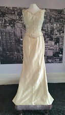 CURRENT, Silk gown with Train, Wedding or Beach Wedding, Tag says £415