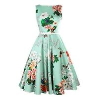 Rockabilly S Vintage Swing Party Dress Women Evening Retro Style 1950 1950s UK