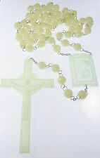 Very large luminous glow in the dark wall rosary beads 1.5m Catholic gift 59""