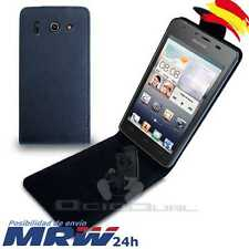 FUNDA PIEL PARA HUAWEI ASCEND G510 G 510 CUERO NEGRO IMAN COVER CASE LEATHER