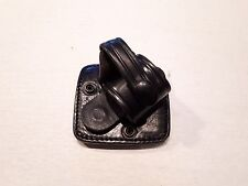 USED Ex Police Issue: Black Leather Rigid Handcuff Pouch For Kit Belt (RCL-3L/6)