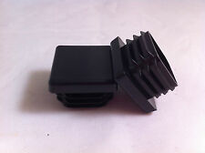 """Qty 12 x 20mm / 3/4"""" Plastic Black Blanking End Caps Square Tube Pipe Inserts"""