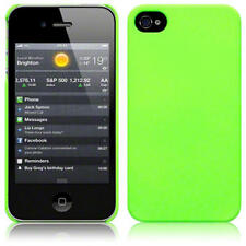 Slim Armour Hard Back Rubber Cover / Case For iPhone 4S / iPhone 4 - Neon Green