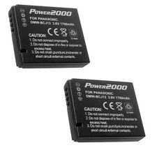 Two 2X Batteries DMW-BCJ13 DMW-BCJ13PP DMW-BCJ13E for Panasonic DMC-LX5 DMC-LX7