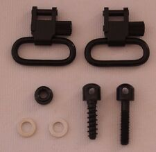 "Rifle Sling Mounting Set Bolt Action 1"" QD Swivels & Screw Stud Base Kit S-0012"