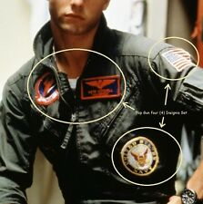 FANCY DRESS HALLOWEEN COSTUME MOVIE PROP: Top Gun USN Flight Suit 4-Insignia Set