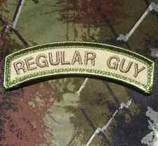 REGULAR GUY TAB ARMY MORALE USA MILITARY TACTICAL US ISAF MULTICAM VELCRO PATCH