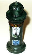 LIMOGES BOX ~ PARIS FRANCE KIOSK ~ EIFFEL TOWER & MOULIN ROUGE ADS ~ PEINT MAIN