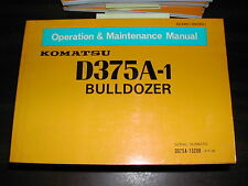 Komatsu D375A-1 OPERATION MAINTENANCE MANUAL BULLDOZER DOZER OPERATOR GUIDE BOOK